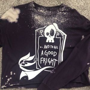 Nightmare before Christmas cropped long sleeve top